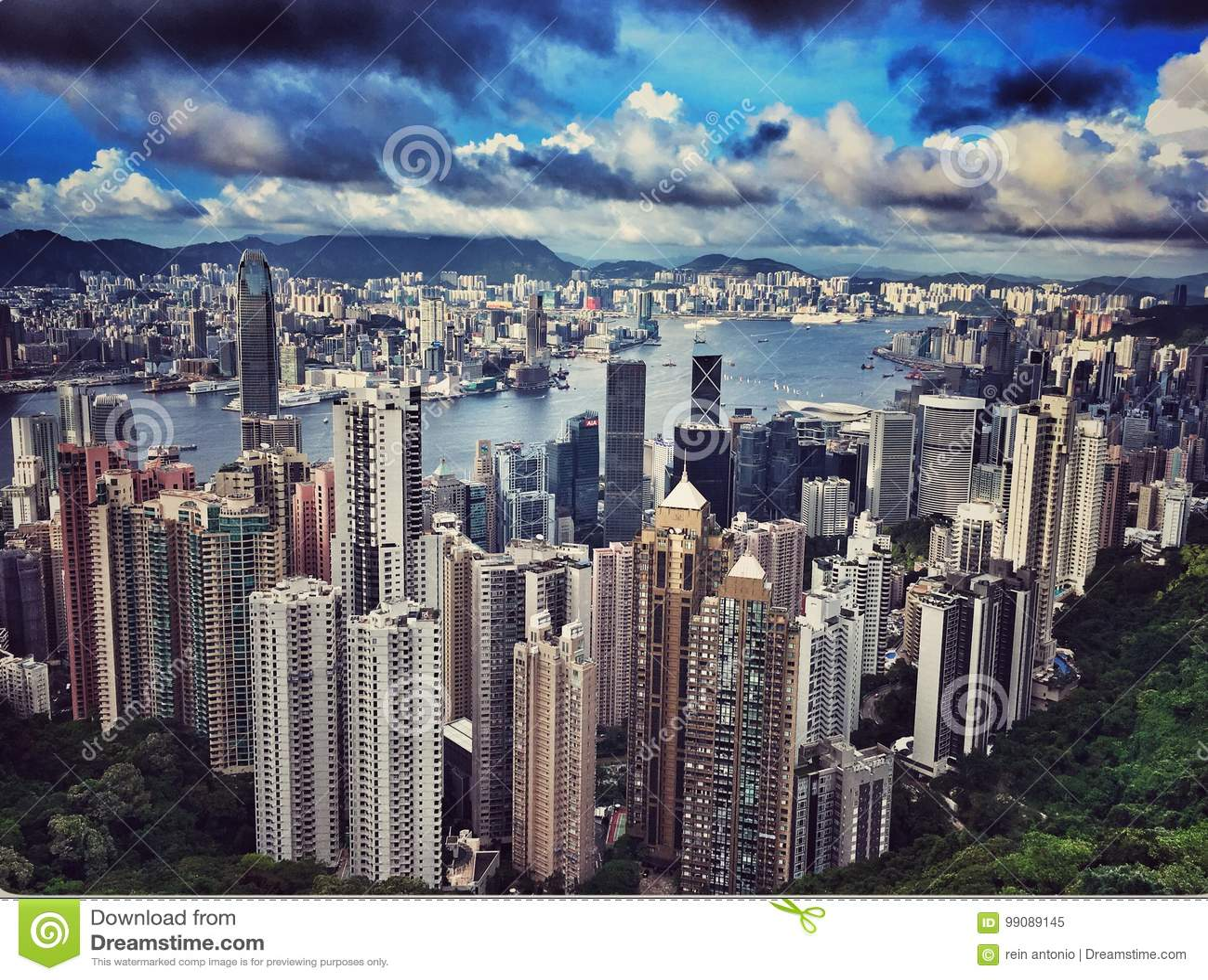 Hongkong Skyline Editorial Image Image Of Modern Shot 99089145