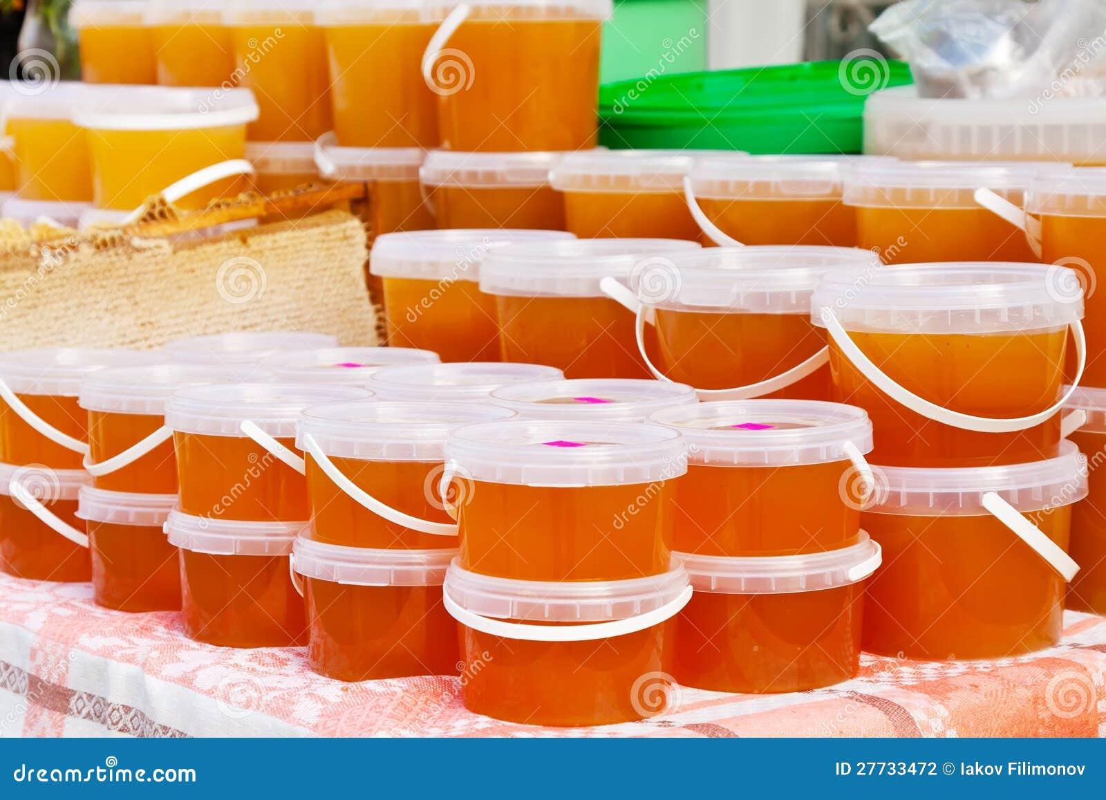 Honig auf Zählwerk des Marktes