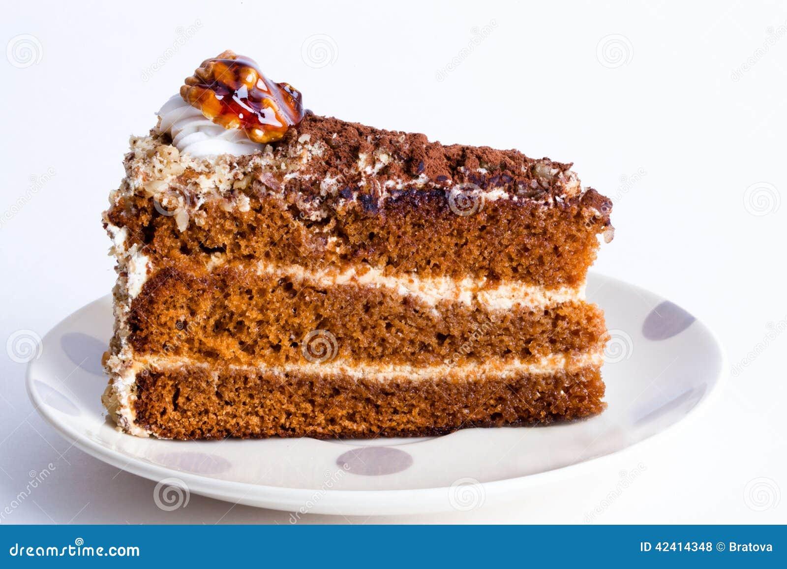 honigkuchen mit waln ssen stockfoto bild von honig vanillepudding 42414348. Black Bedroom Furniture Sets. Home Design Ideas