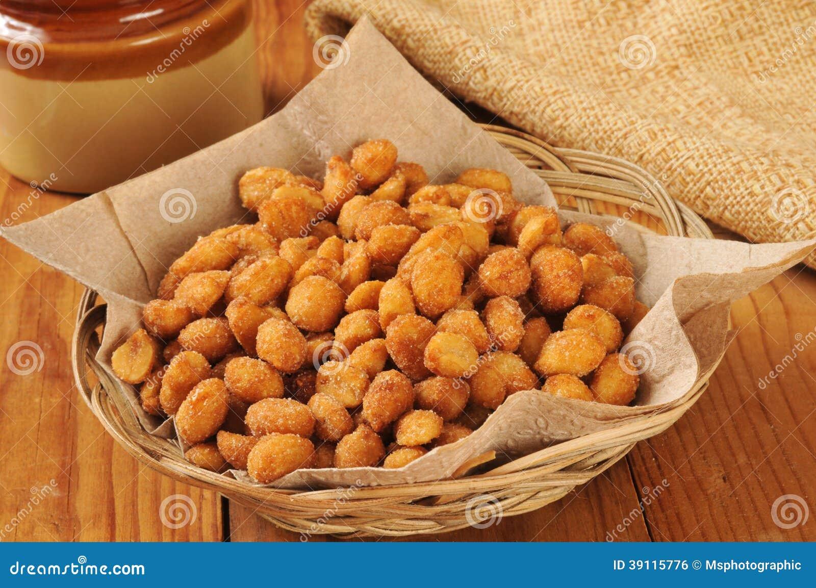 Honing geroosterde pinda s