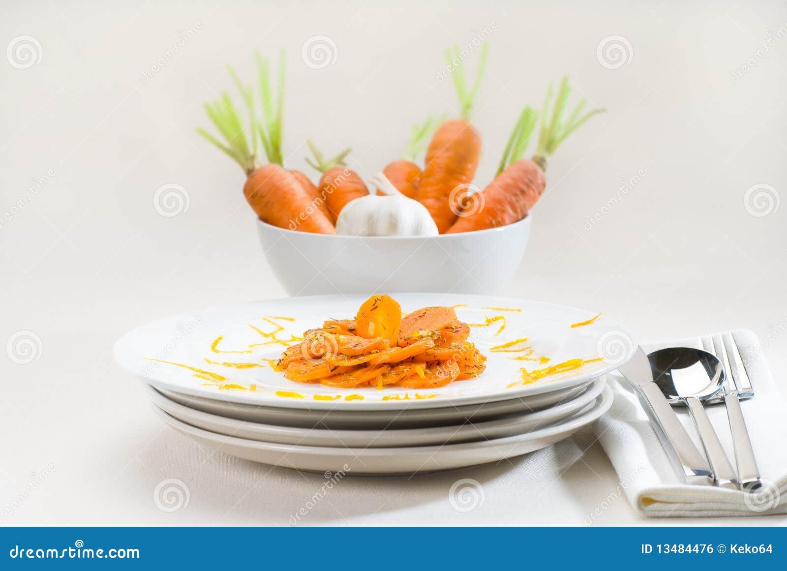 Honing verglaasde wortelen