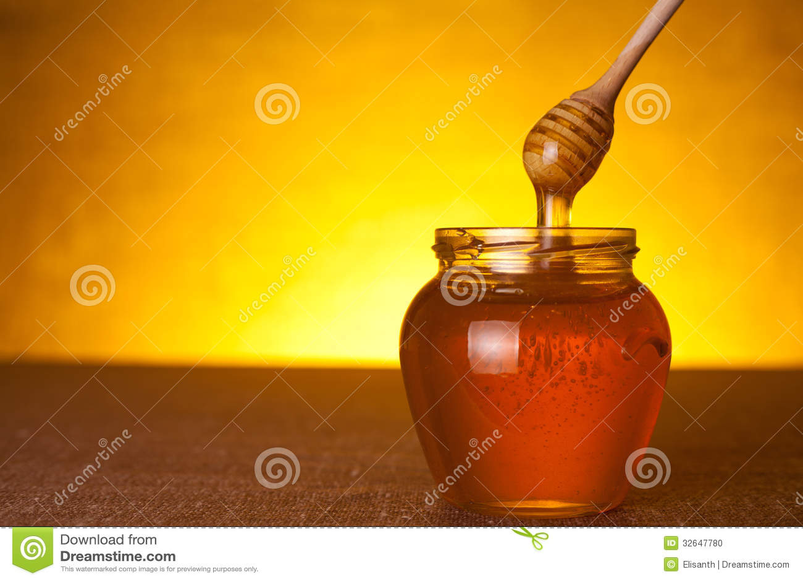 Honingskruik met dipper