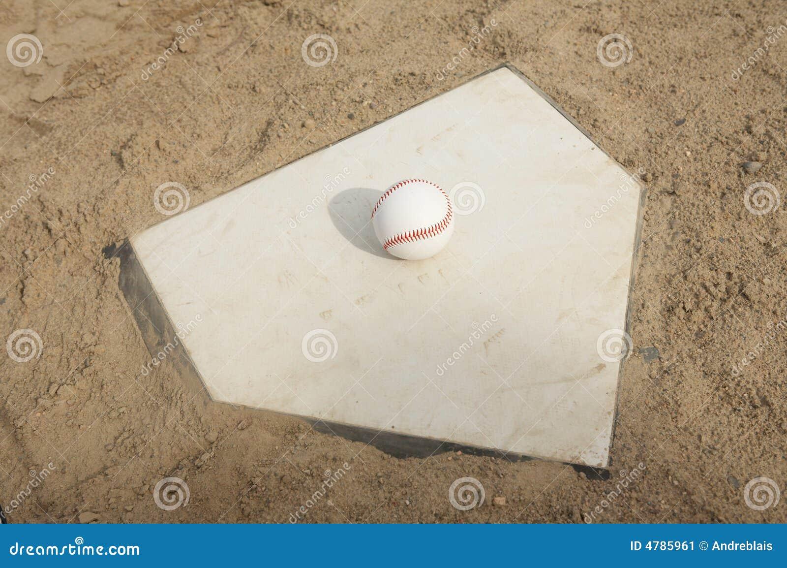 Honkbal op de Plaat van het Huis