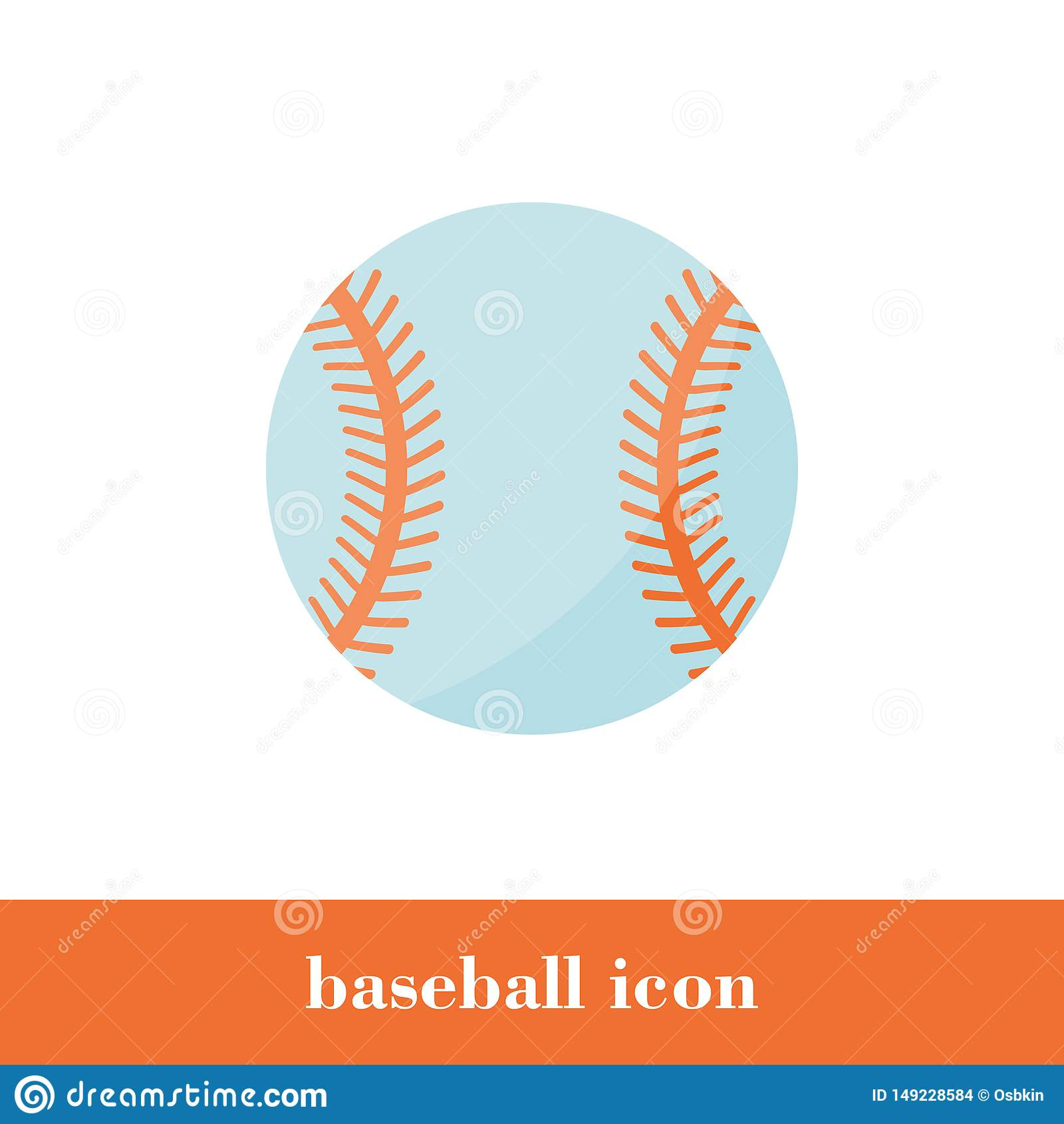 Honkbalpictogram in vlakke stijl pictogram