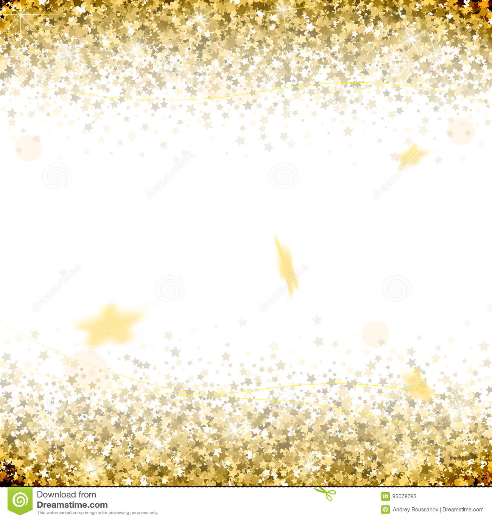 Honnör av guld- stjärnor på en vit bakgrund