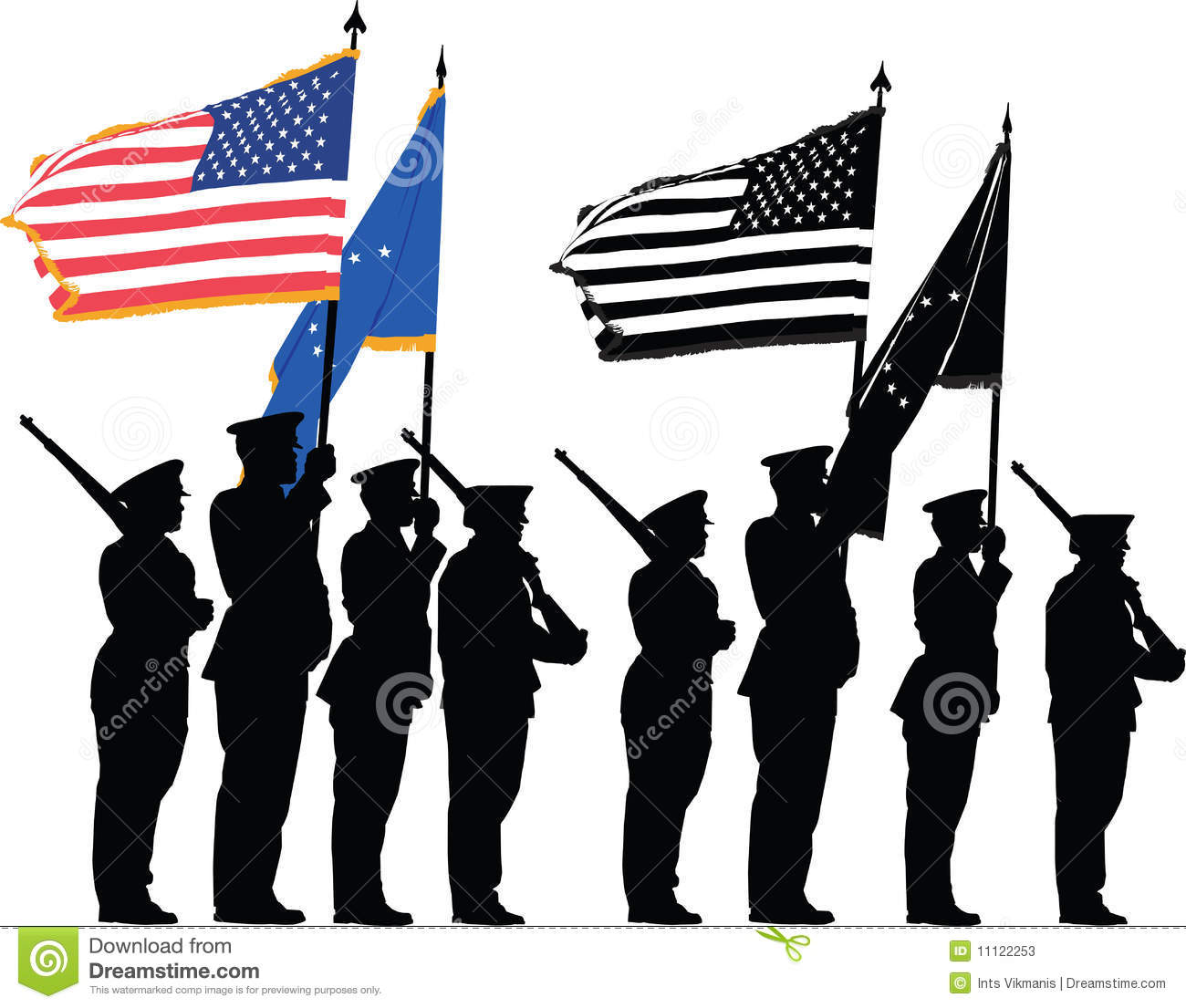 Honor guard stock vector illustration of marine corps 11122253 honor guard publicscrutiny Choice Image
