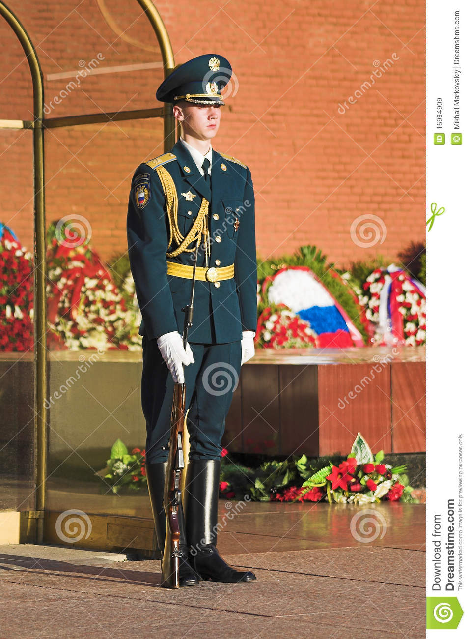 An Honor Guard At The Moscow Kremlin Wall, Russia ...
