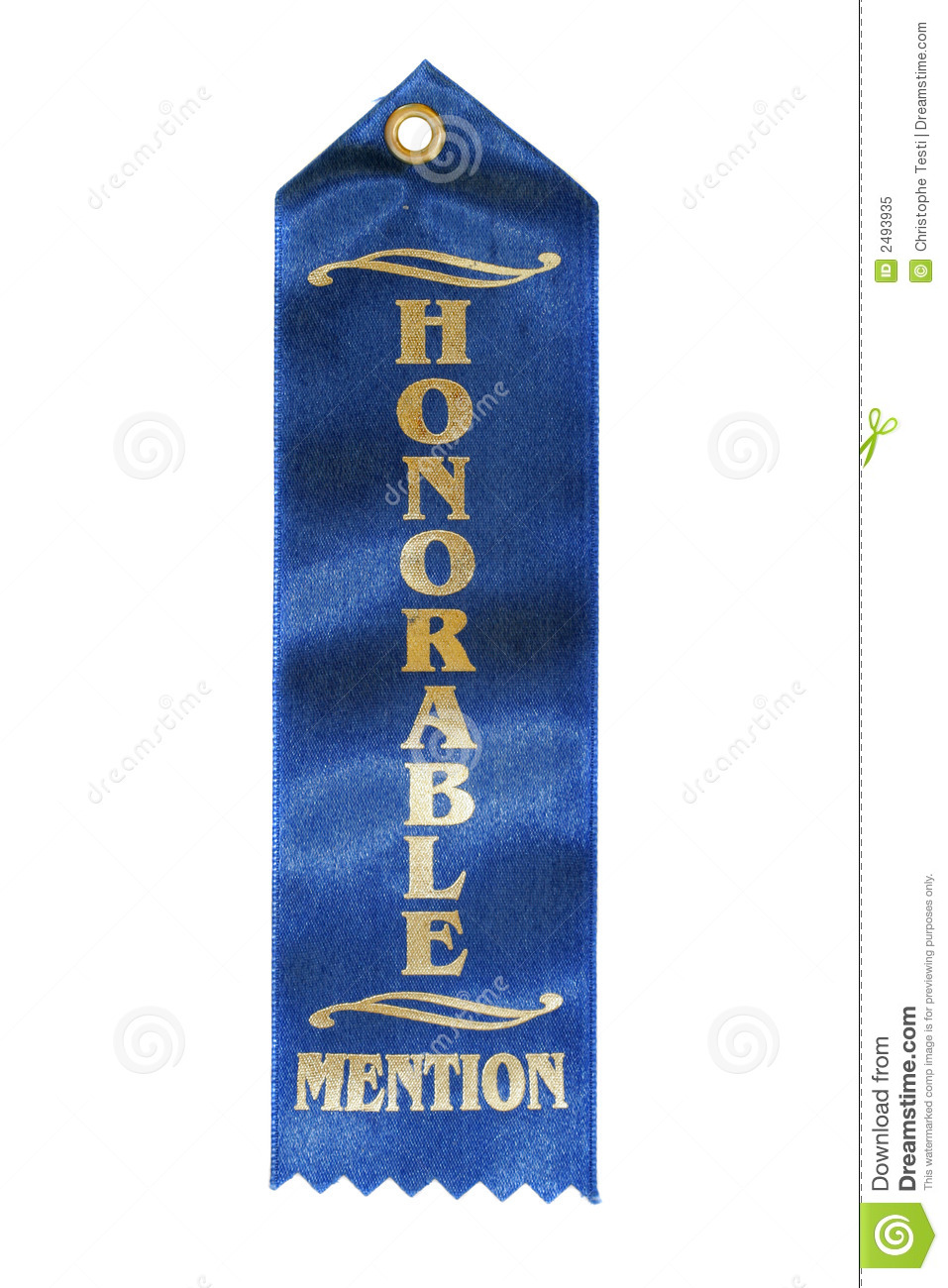 Honorable Mention Ribbon Royalty Free Stock Photo - Image: 2493935
