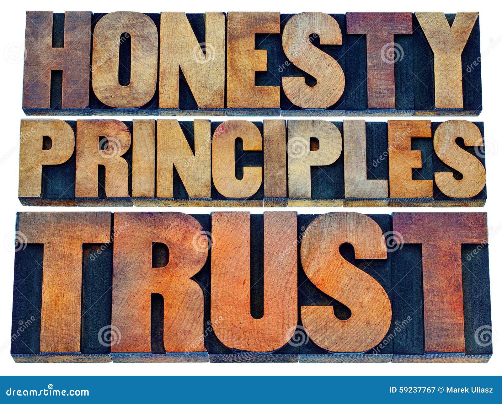 Honradez, principios y confianza