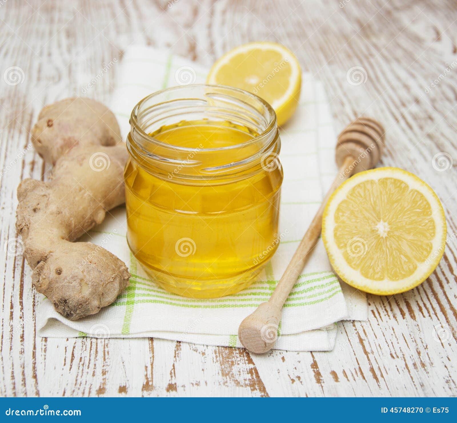 ingefära citron och honung