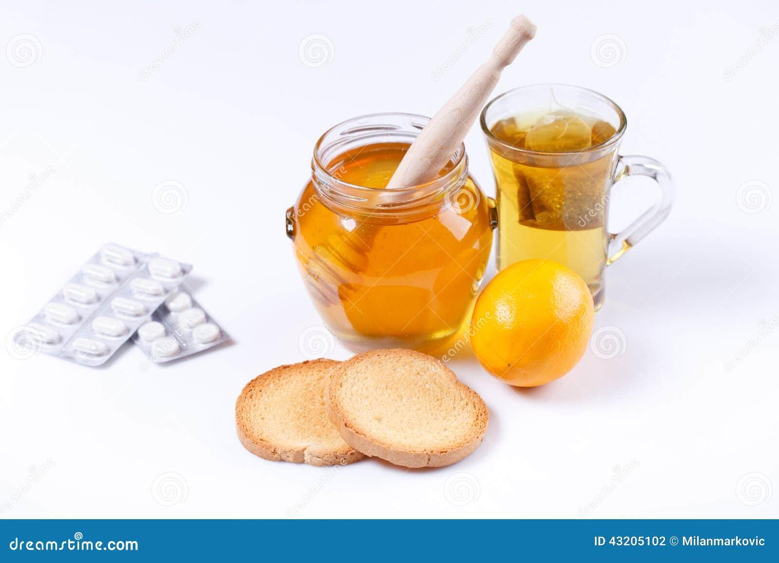 Download Honung, te och medicin arkivfoto. Bild av medicin, gammalt - 43205102