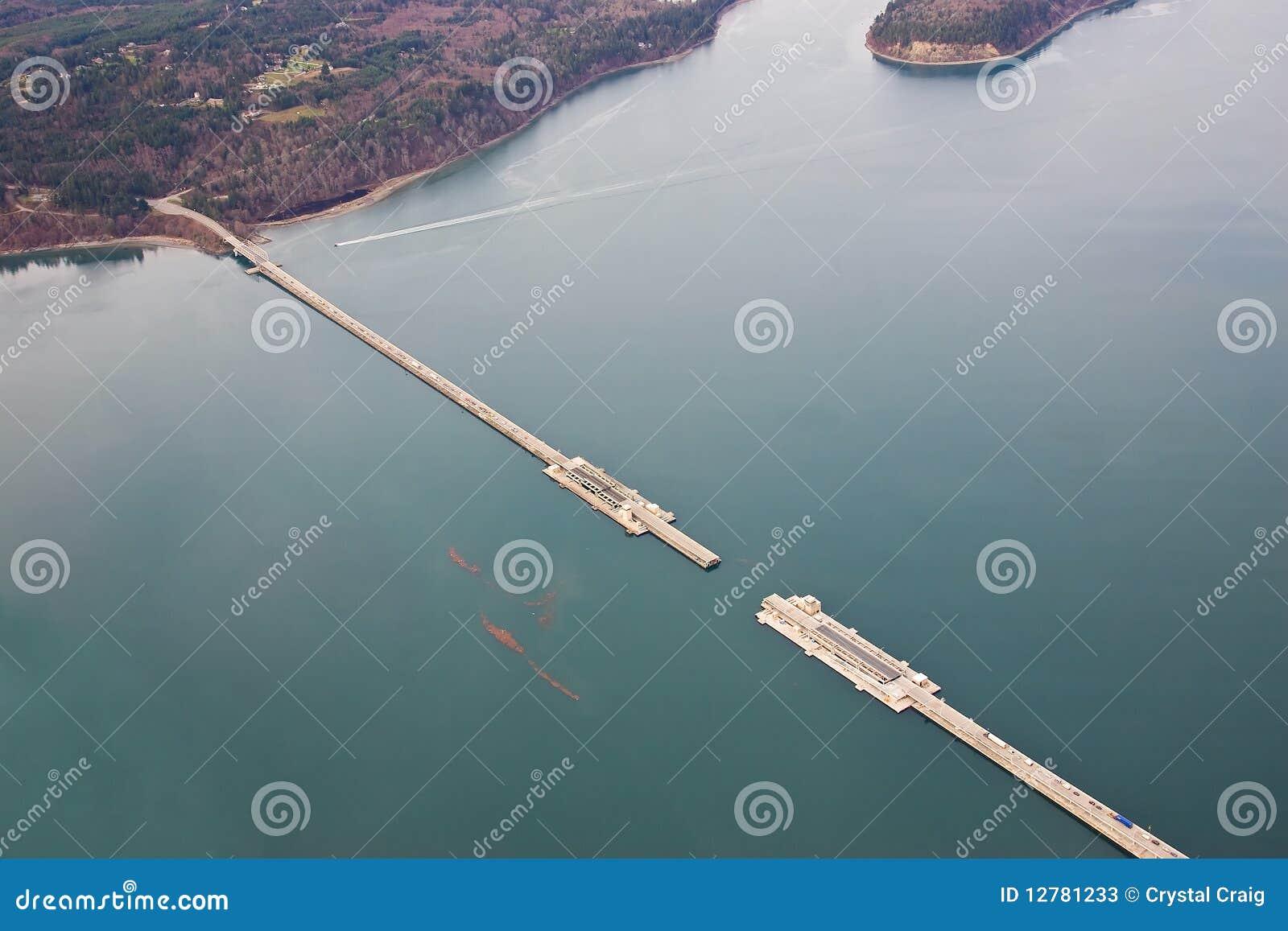 Hood Canal Bridge Washington Stock Image Image Of
