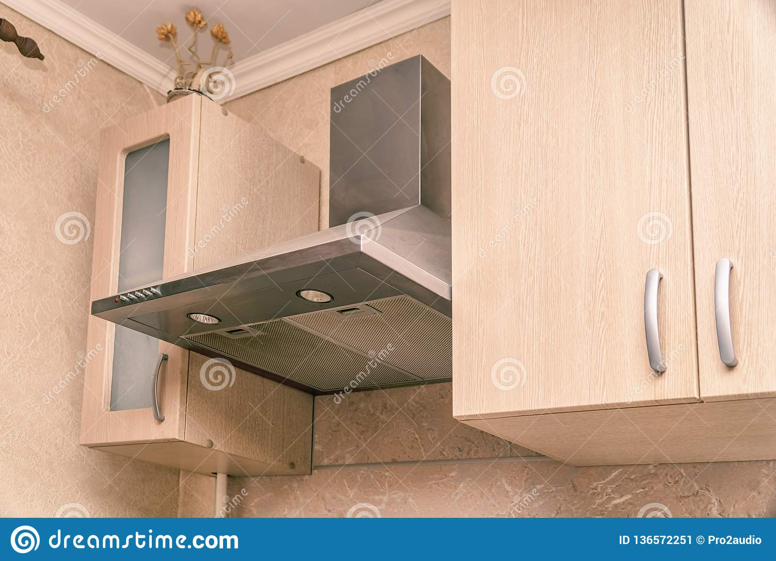 Hood Extractor Fan In The Kitchen Stock Image Image Of Home Extractor 136572251