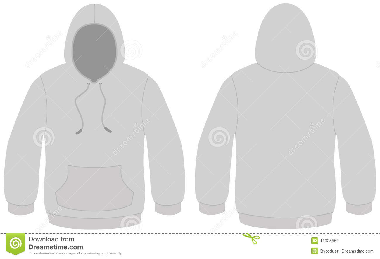Hooded Sweater Template Vector Illustration Stock Vector ...