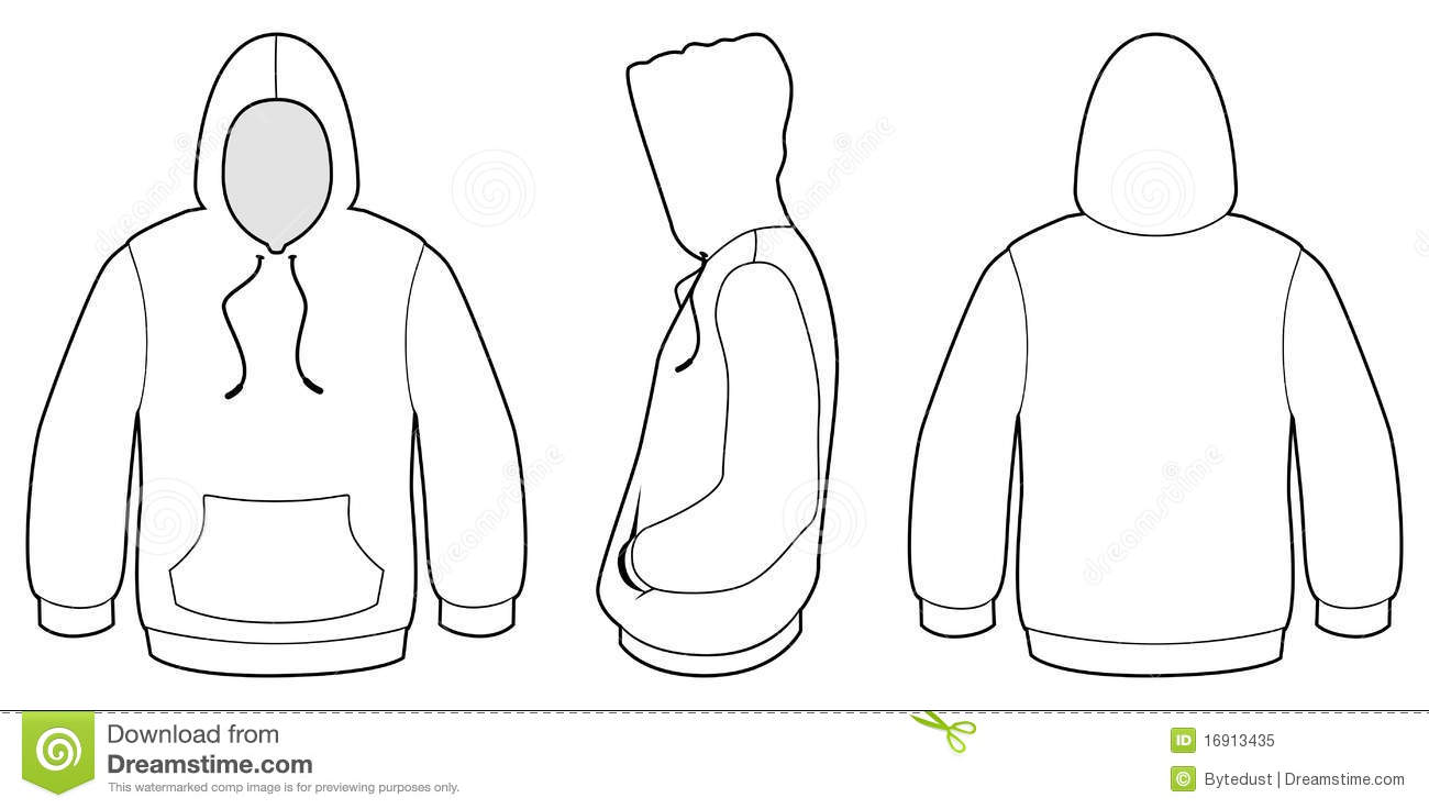 Hooded Sweater Template Vector Illustration Royalty Free