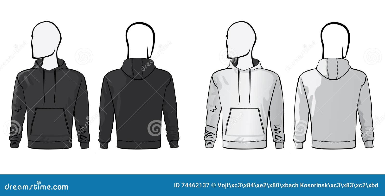 Hoodie blank template stock vector illustration of wear 74462137 hoodie blank template maxwellsz