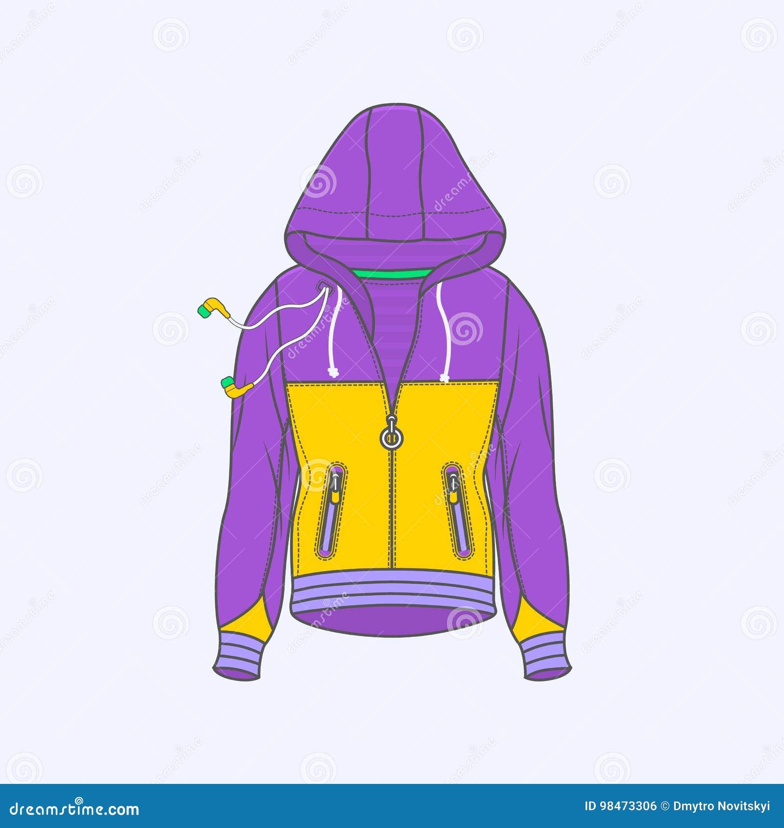 Hoodie für einfache Linie Ikone des Mannsymbols auf Hintergrund