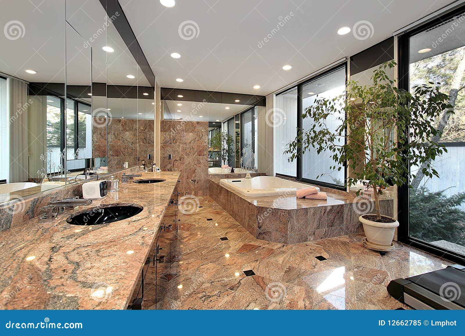 Hoofd bad met marmeren vloeren royalty vrije stock foto afbeelding 12662785 - Marmeren vloeren ...