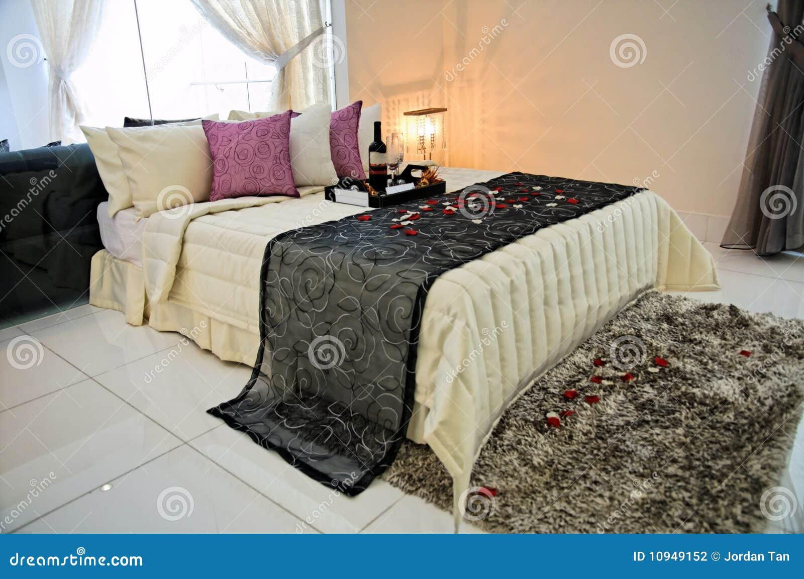 Hoofd slaapkamer in een privé flat