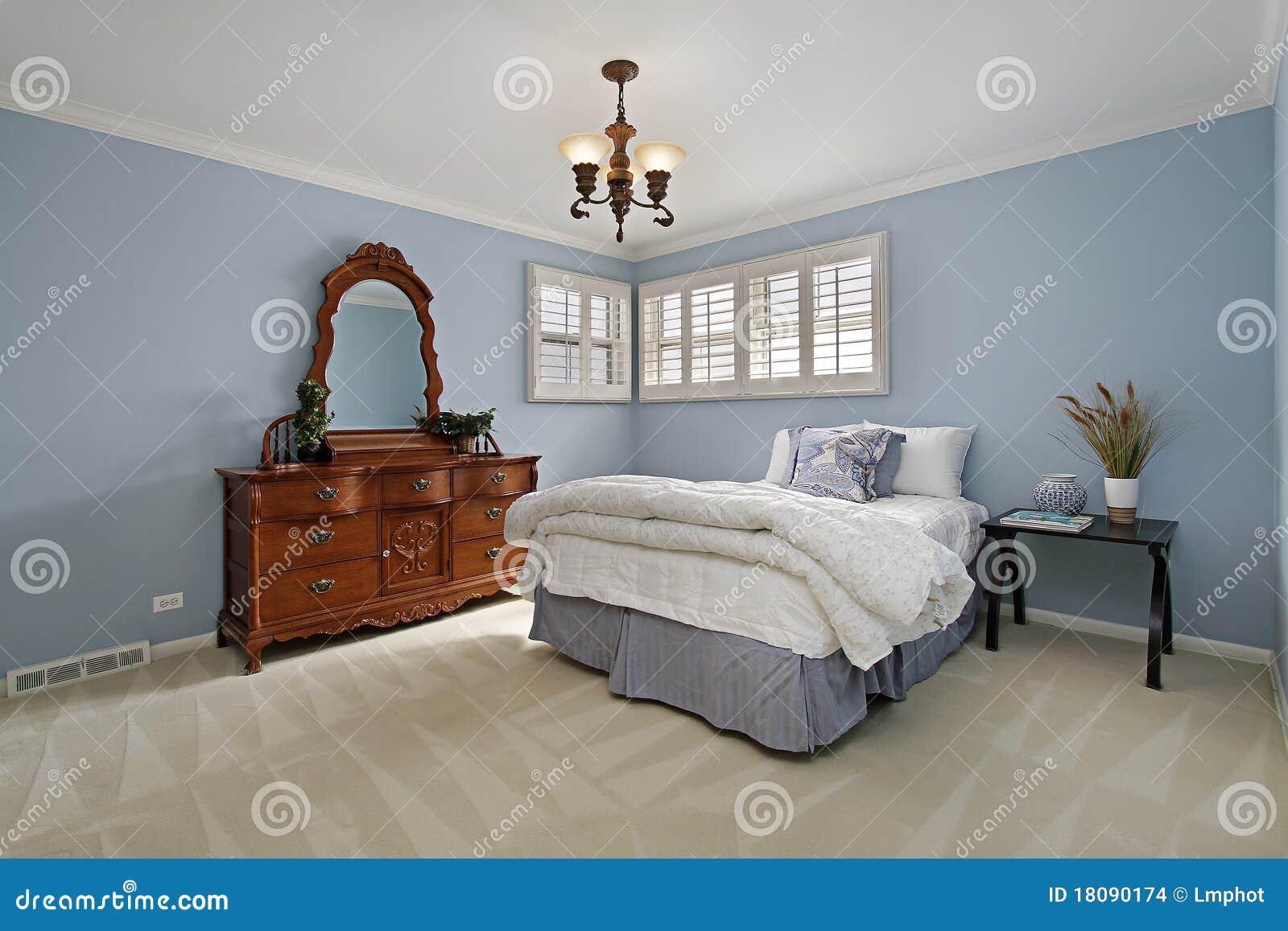 Hoofd slaapkamer met lichtblauwe muren stock afbeeldingen afbeelding 18090174 - Hoofd bed comtesse ...