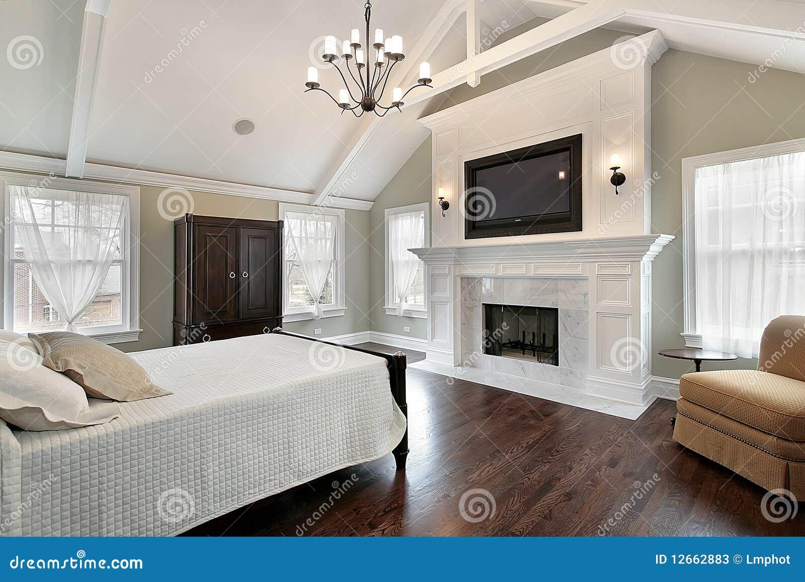 Open Haard In Slaapkamer : Master Bedroom with Fireplace