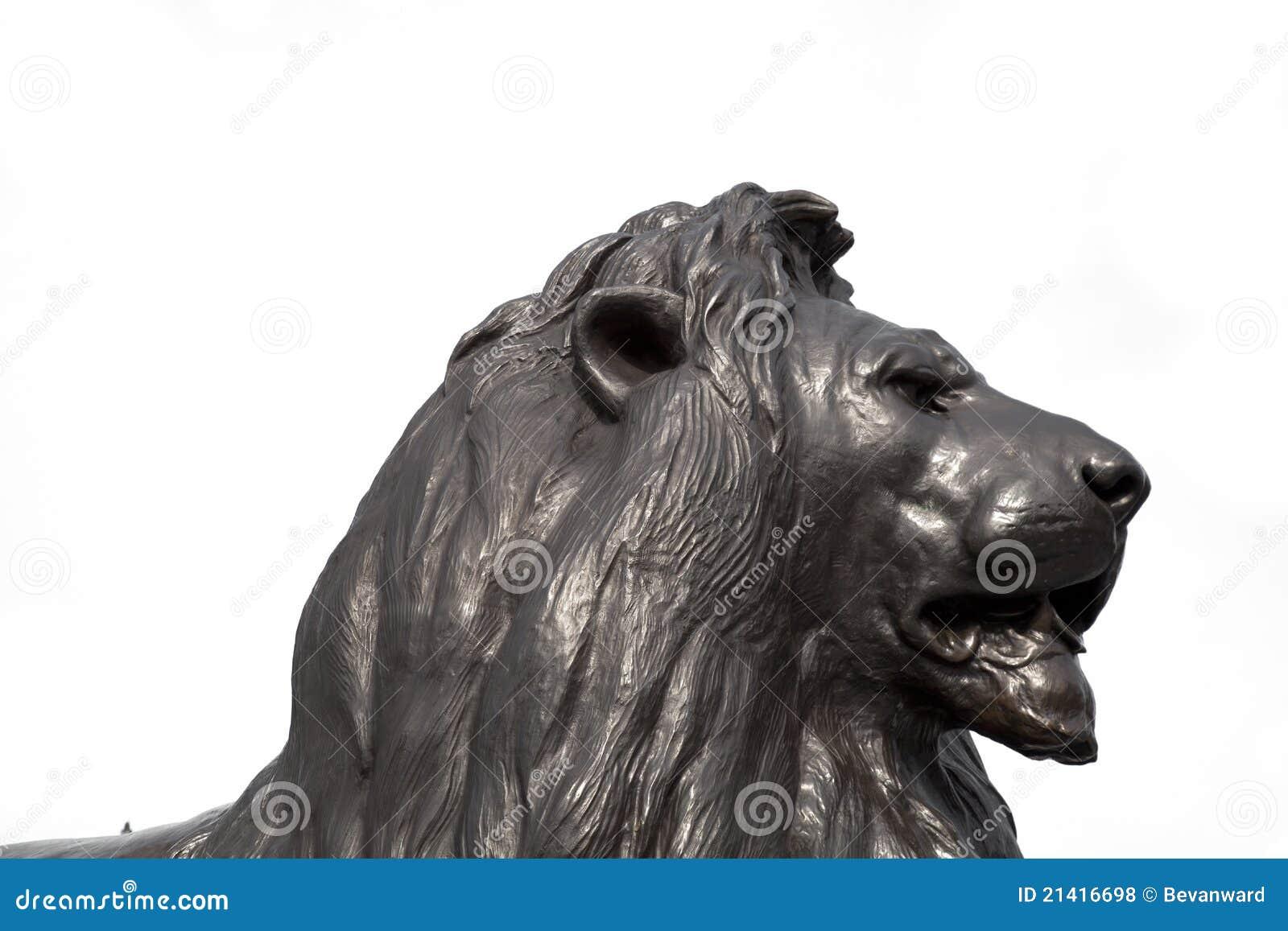 Hoofd van de Leeuw van Trafalgar het Vierkante - Londen
