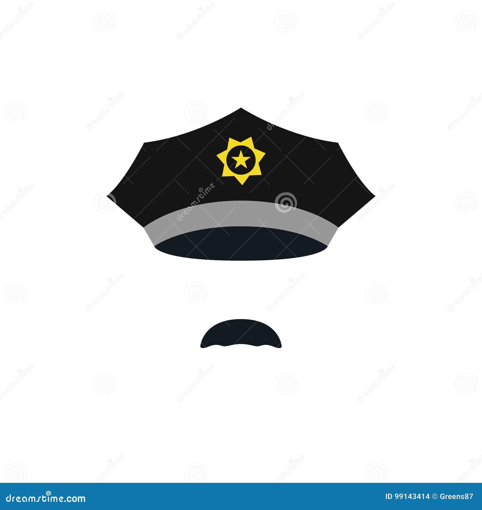 Hoofd van politieagent met GLB
