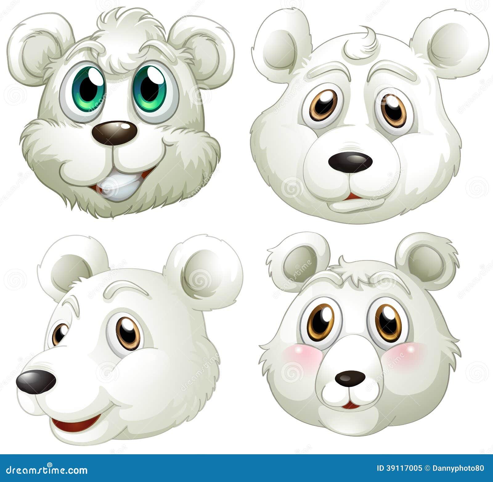 Hoofden van ijsberen