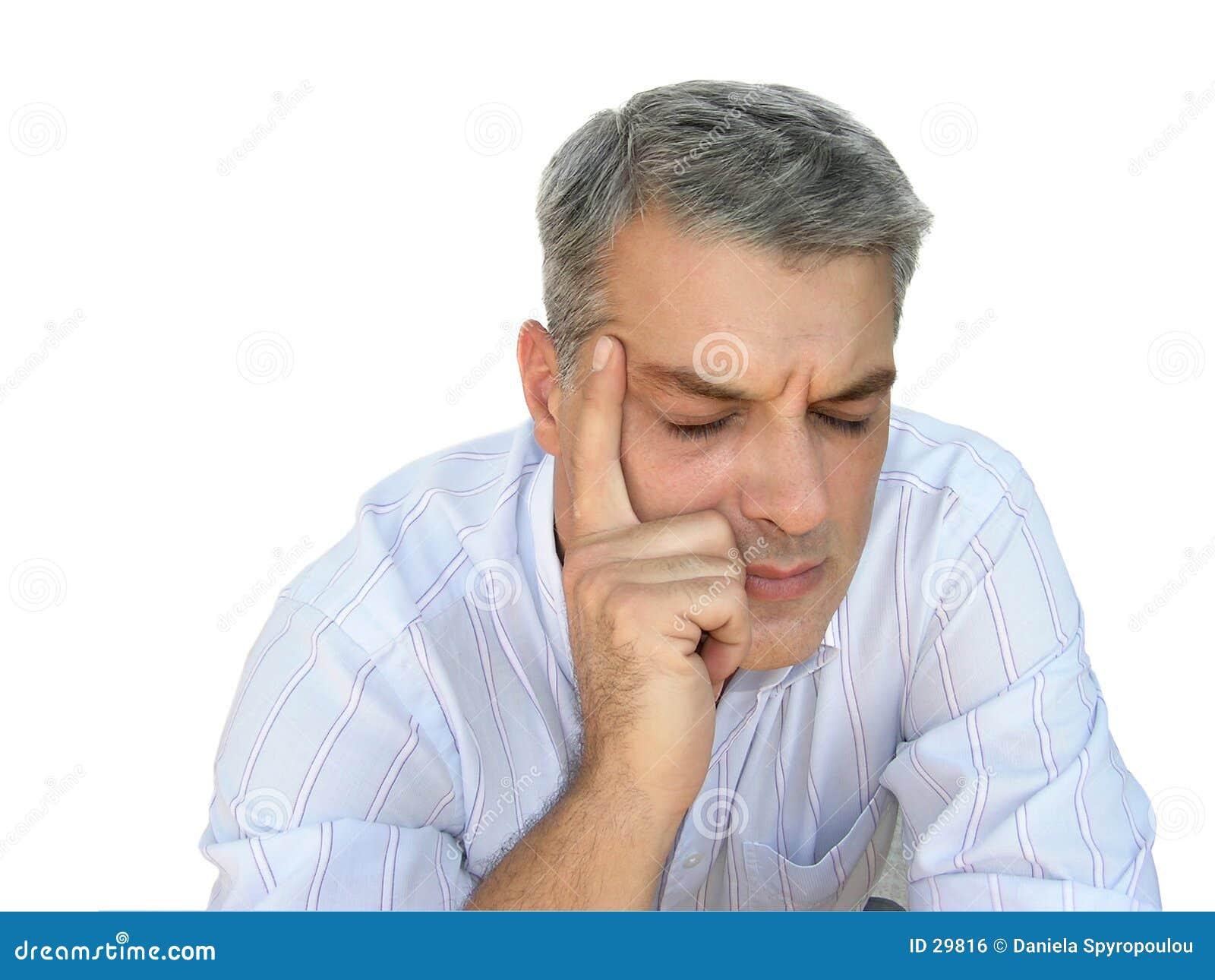 Download Hoofdpijn stock foto. Afbeelding bestaande uit emoties, commercieel - 29816