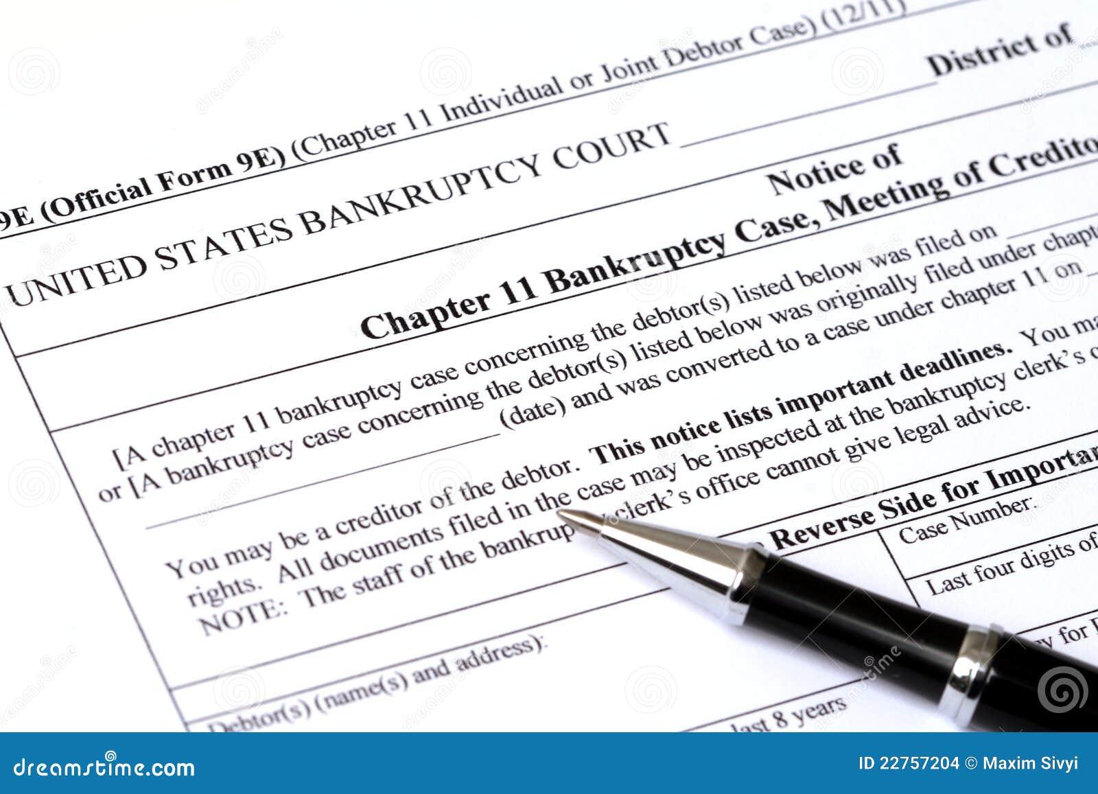 Hoofdstuk 11 de toepassing van het Faillissement