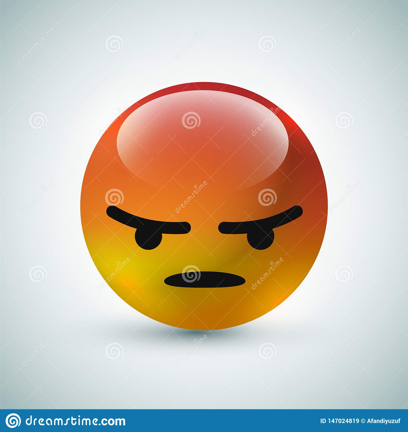 Hoog - bel van het kwaliteits babbelt 3d vector ronde gele beeldverhaal emoticons voor sociale media commentaarreacties, het gezi