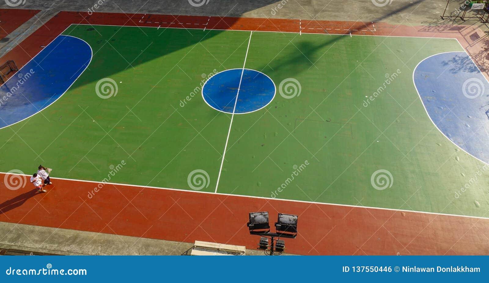 Hoogste satellietbeeld van geopend stadion