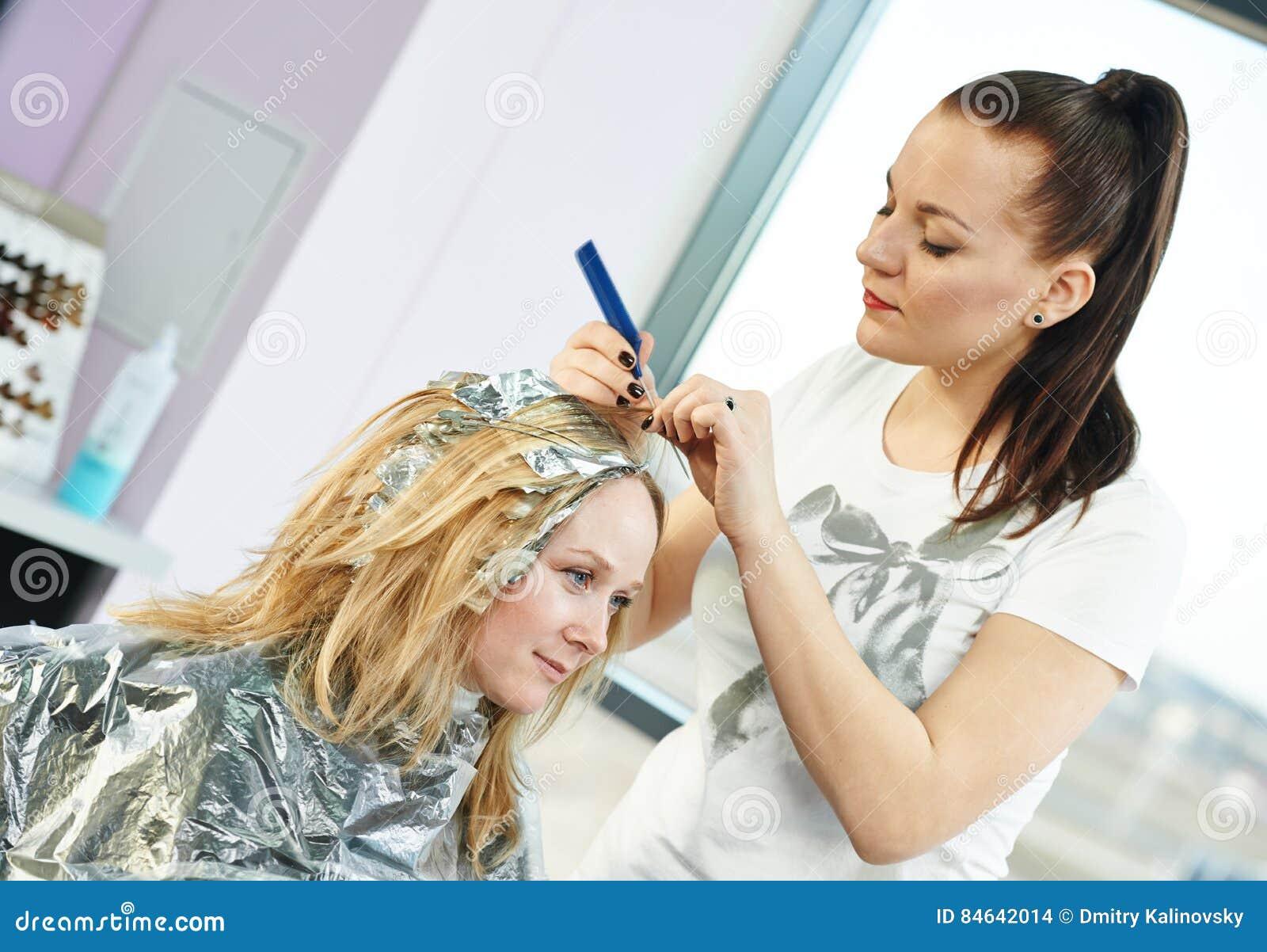 Hoogtepunt het vrouwenkappen in salon