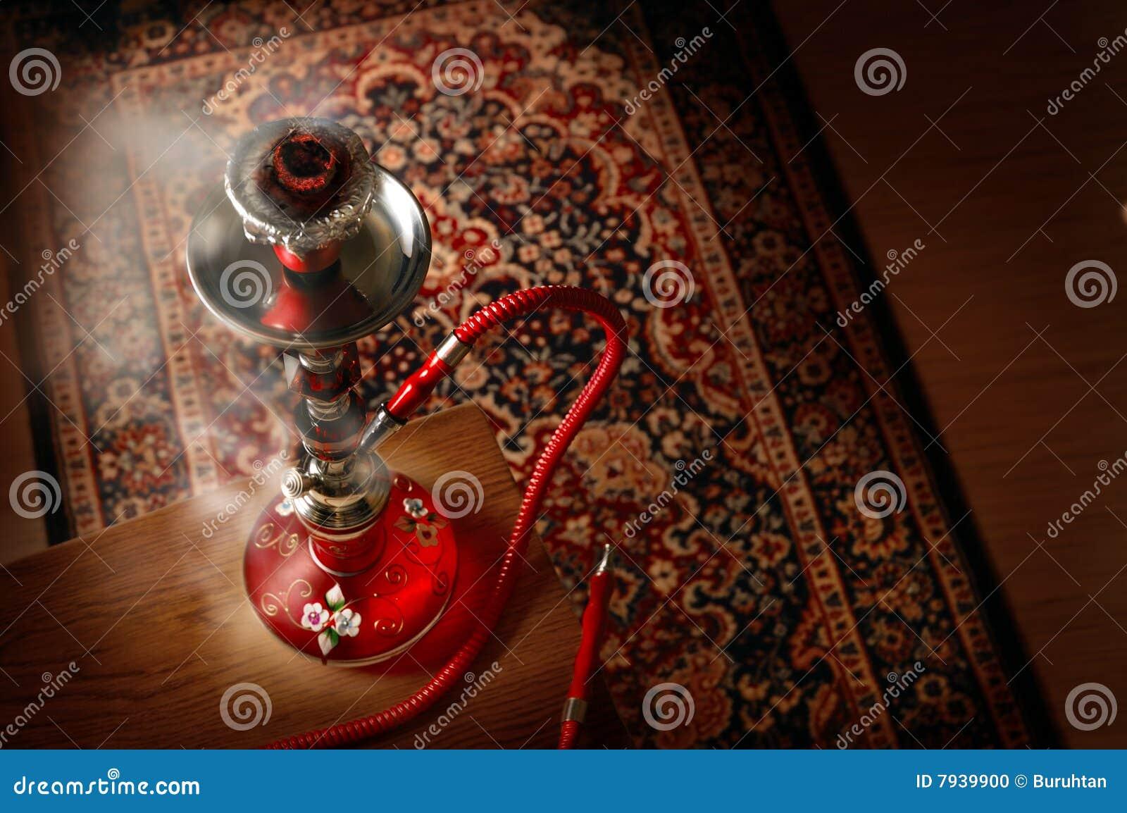 Hookah in smoke