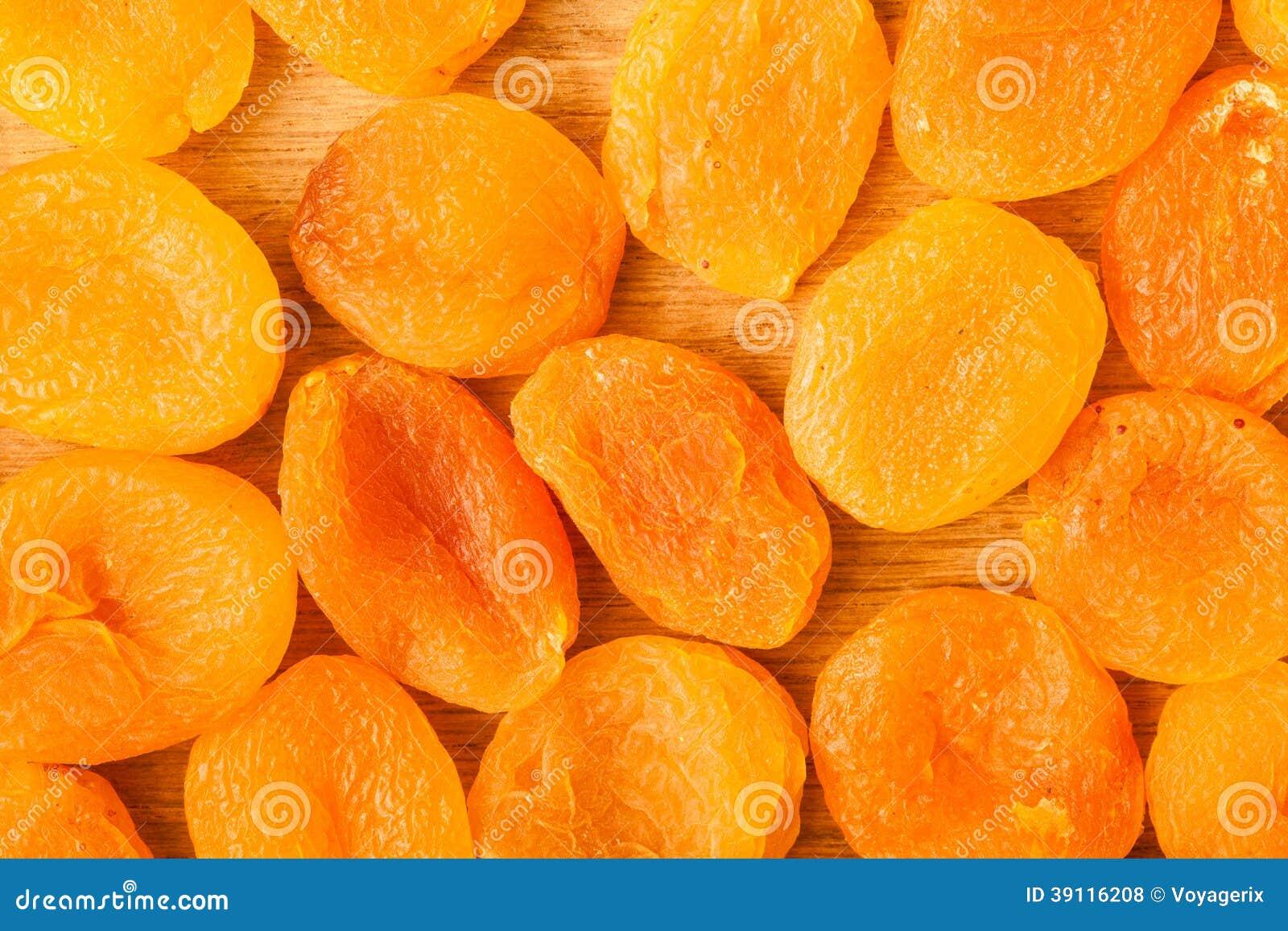 Hoop van droge het voedselachtergrond van het abrikozenclose-up