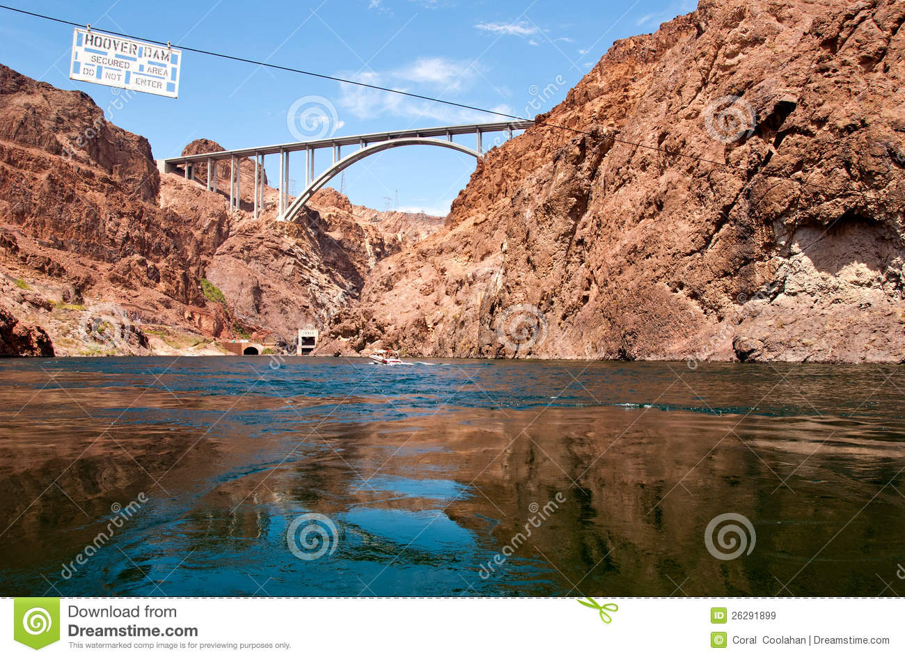 Hoover Dam bypass bridge stock image  Image of extension