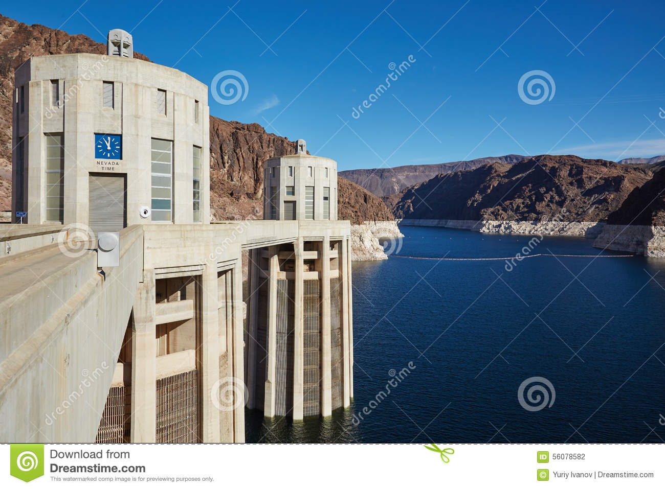 The Hoover Dam, California, USA Stock Photo - Image of lake