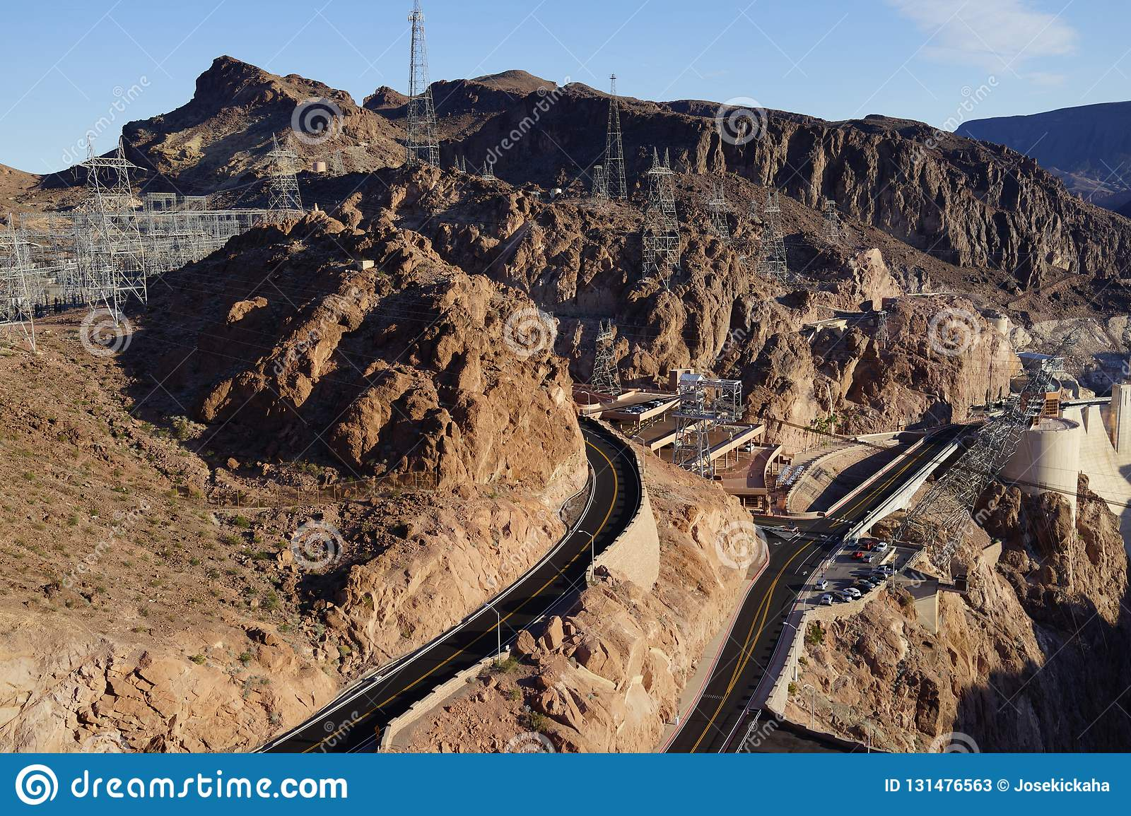The Hoover Dam 21 editorial stock photo  Image of border - 131476563