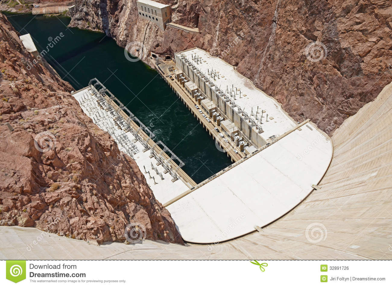 hoover dam hydroelectric power plant royalty free stock