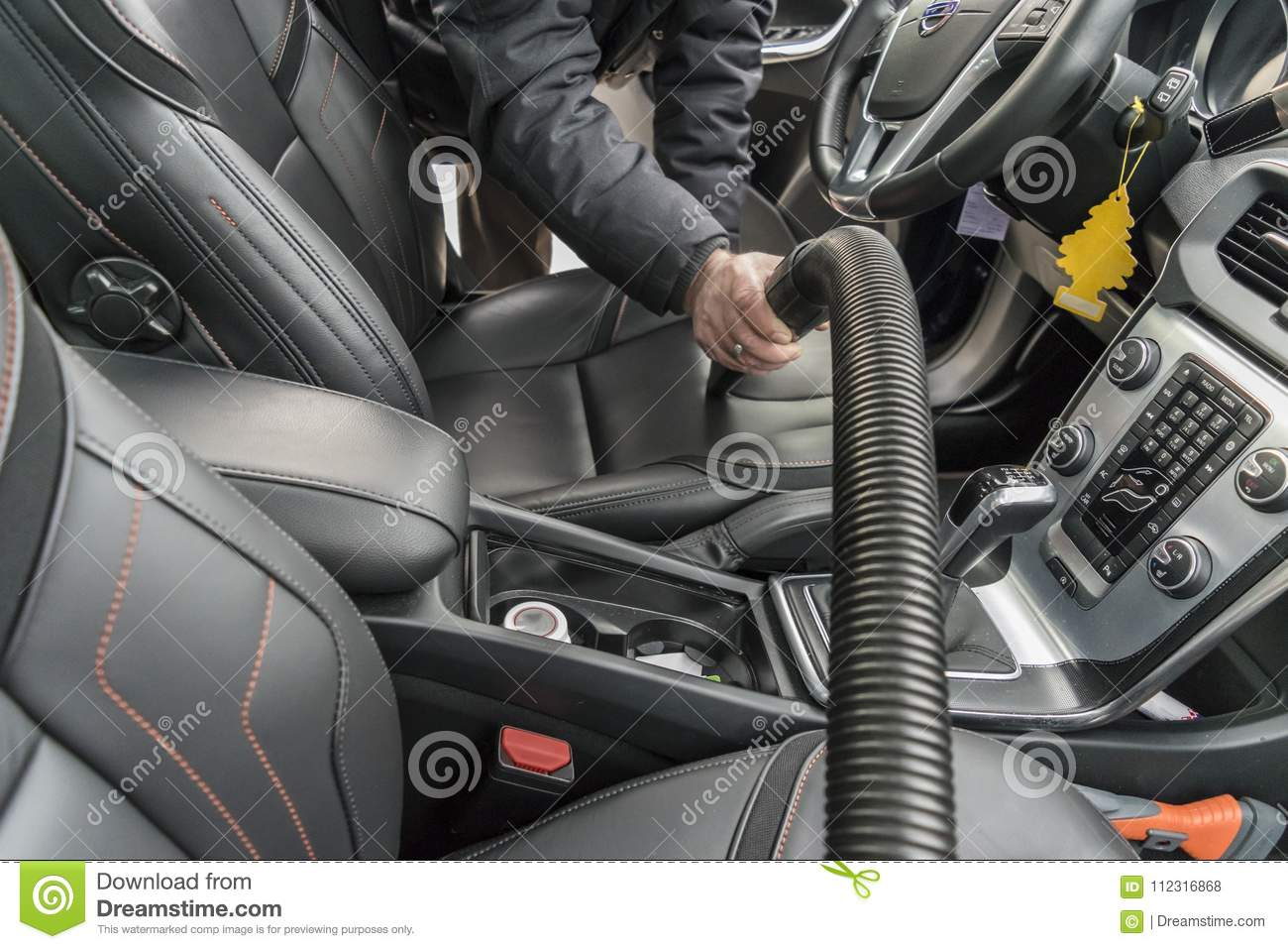 Hoovering The Car Interior Stock Photo Image Of Salon