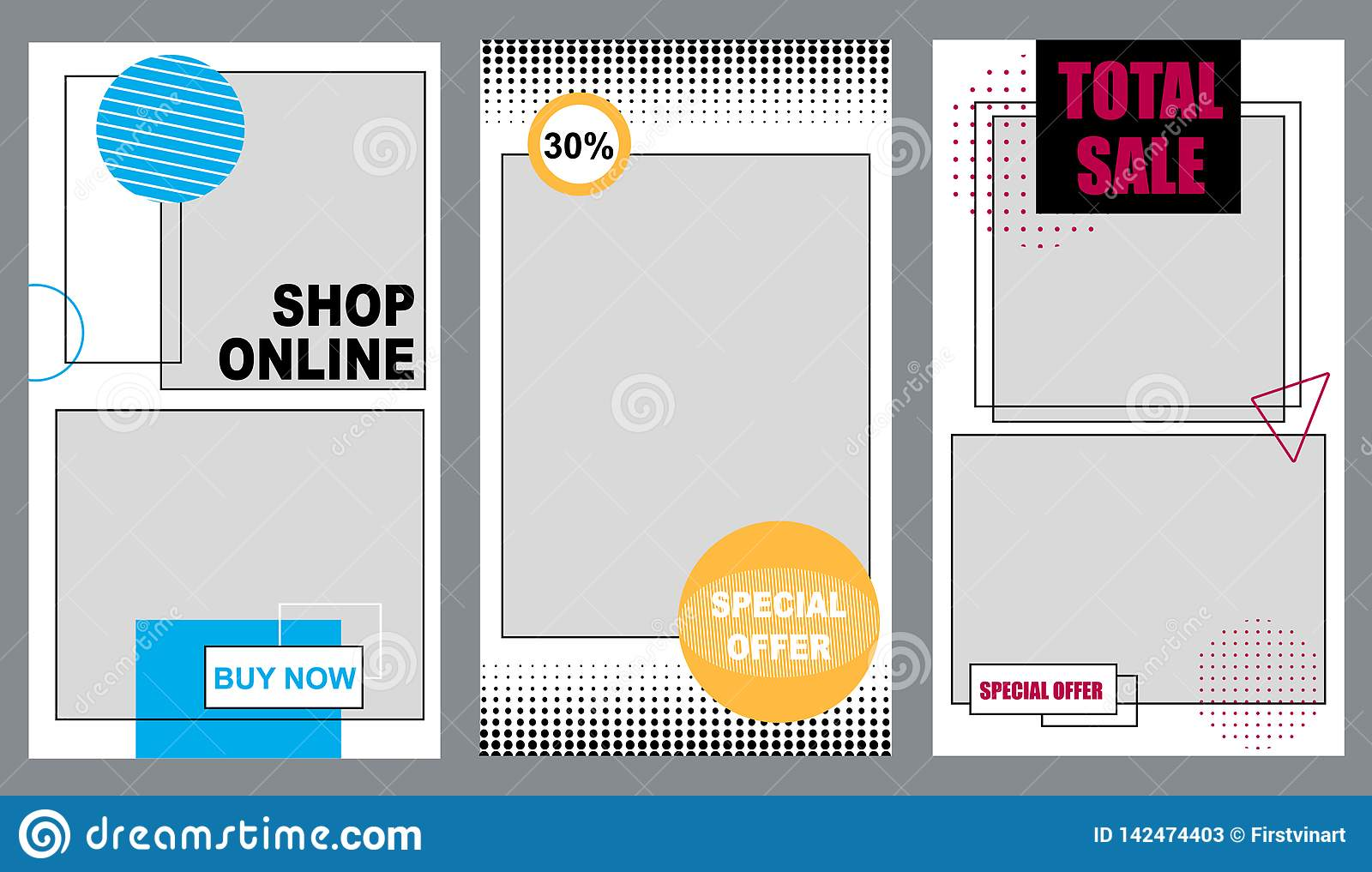 Hop Online 30 Percent Special Offer Total Sale  Stock Vector