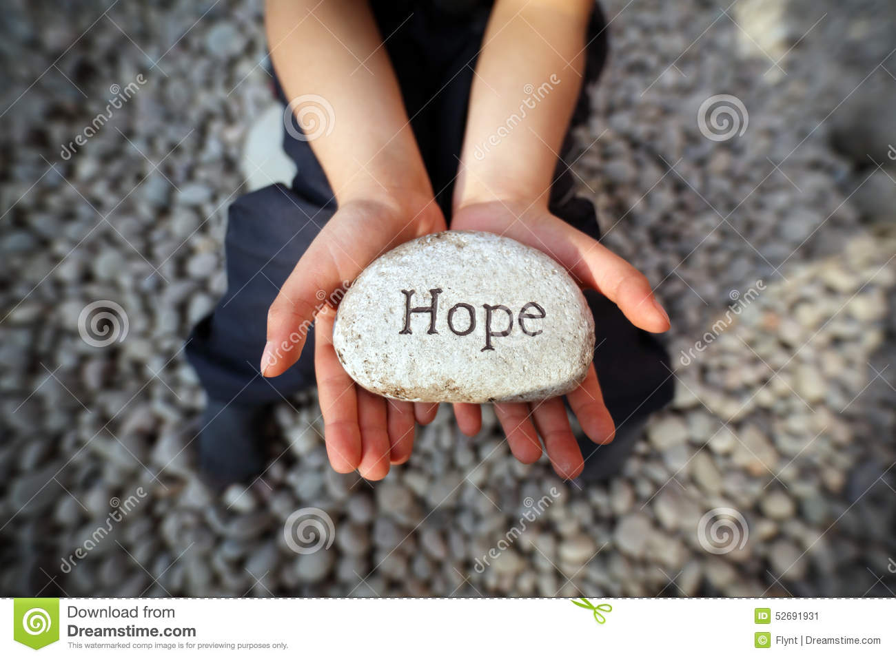 Download Hope of a child stock image. Image of hand, christianity - 52691931