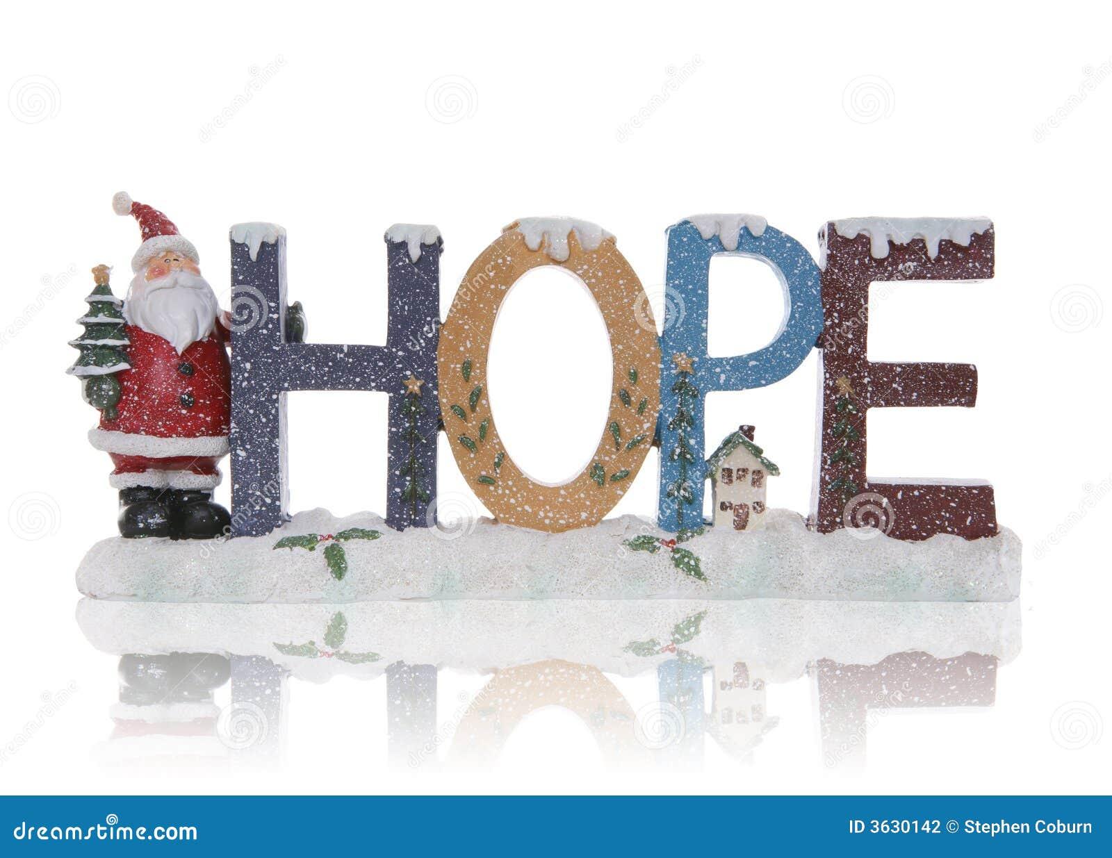 Hope Christmas Sign Stock Photography - Image: 3630142
