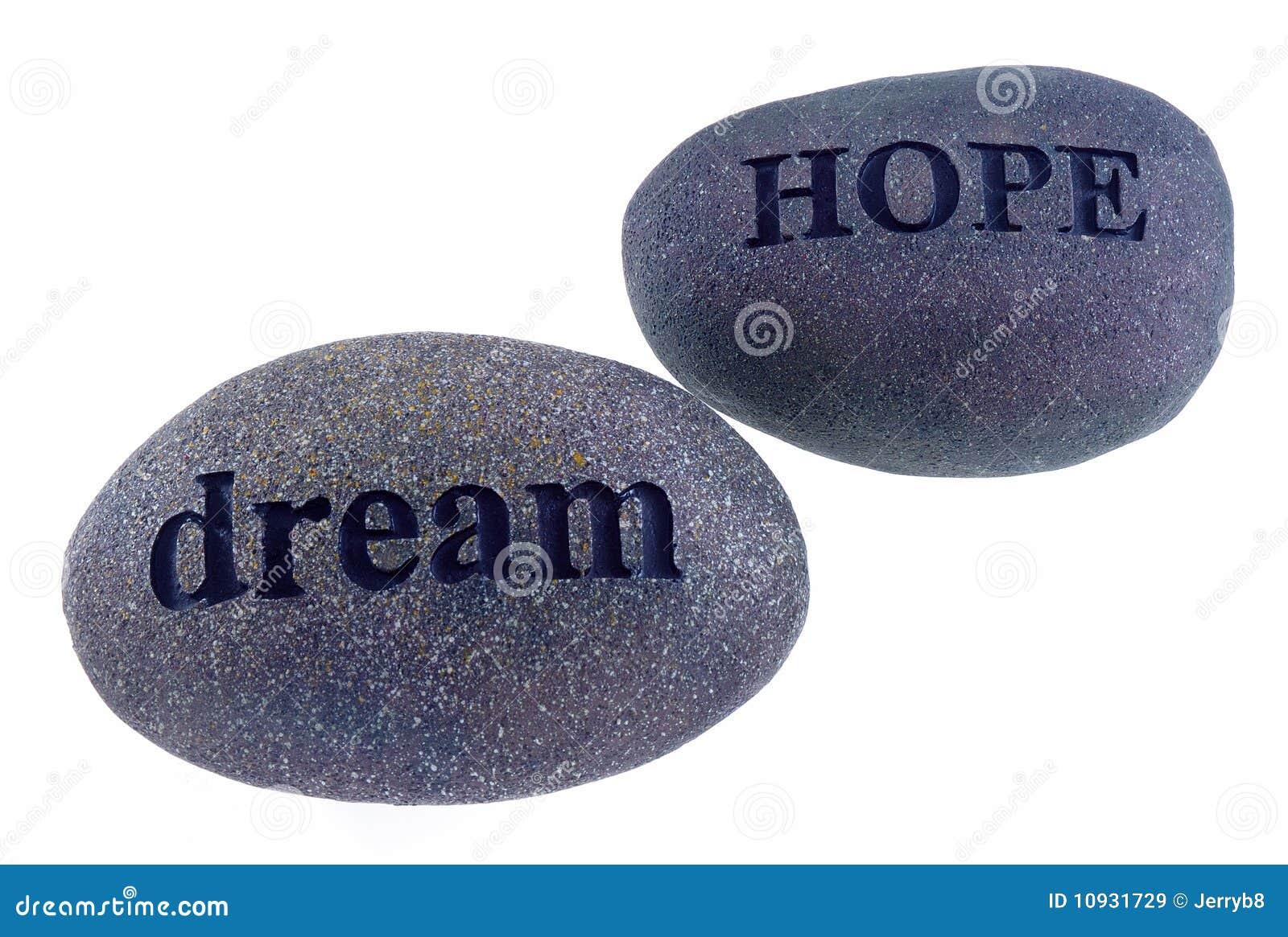 Hope and dream rocks