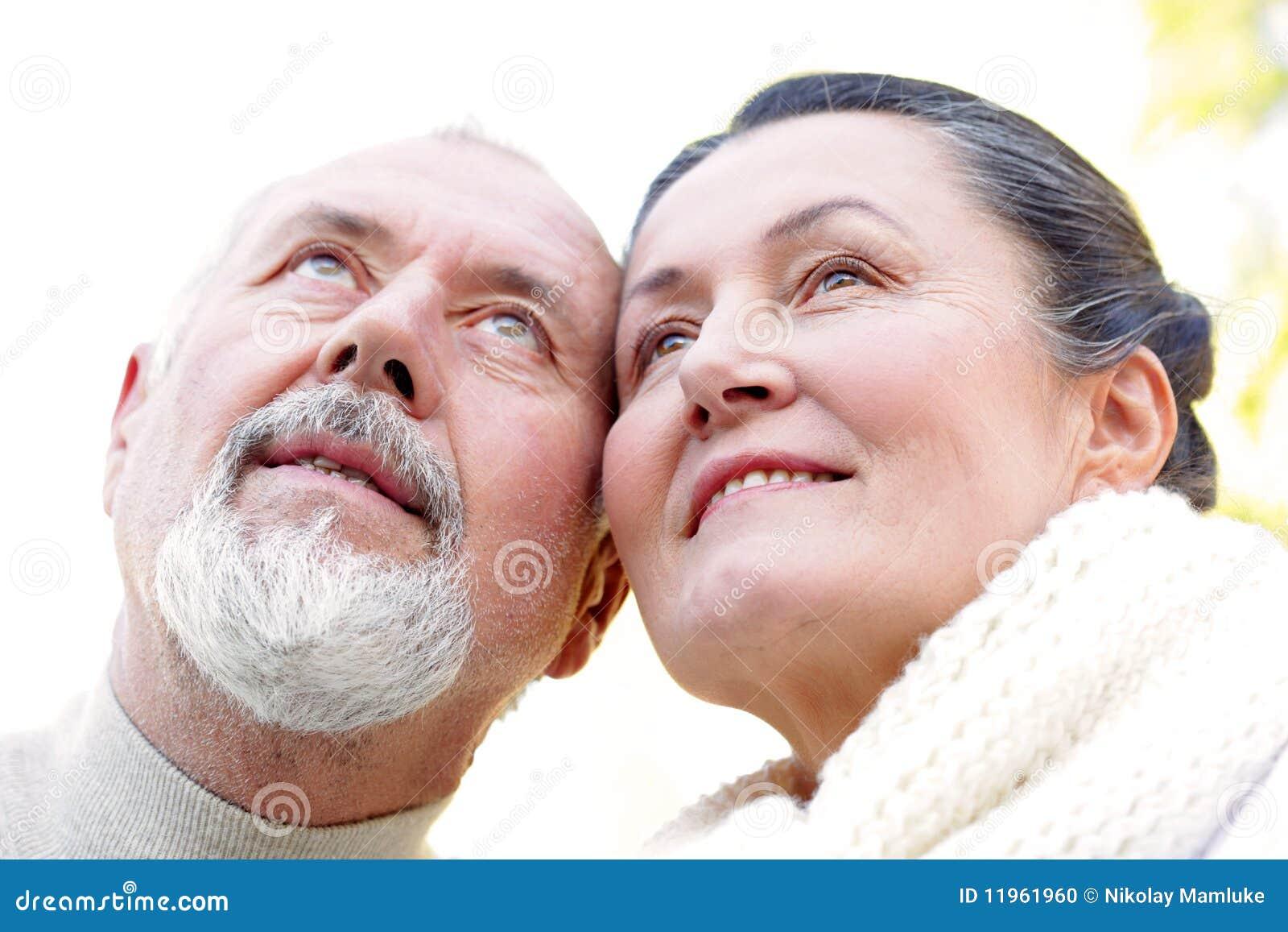 Hopeful older couple