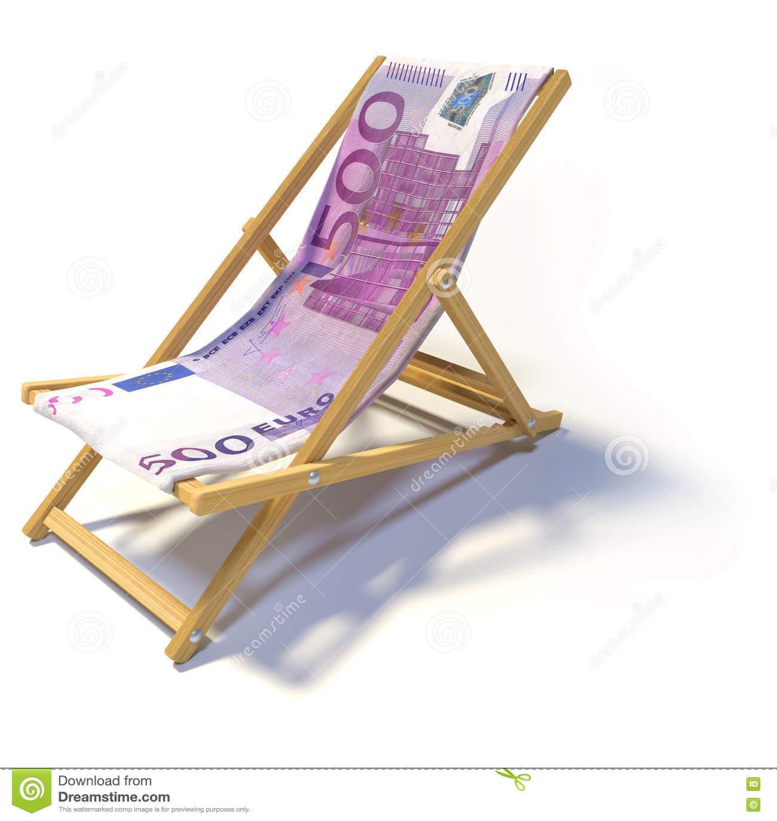 Hopfällbar strandstol med euro 500