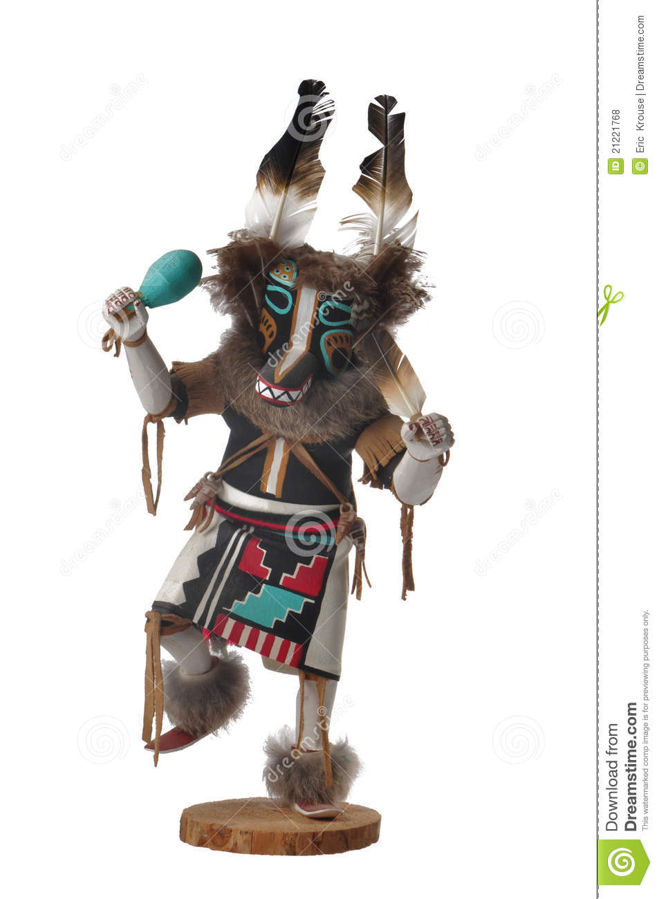 hopi wolf kachina doll royalty free stock photos