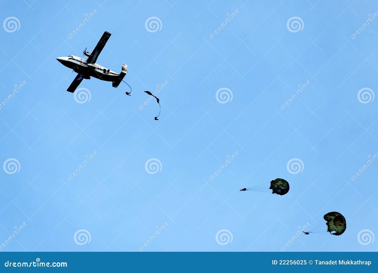 Hoppa fallskärm utbildning