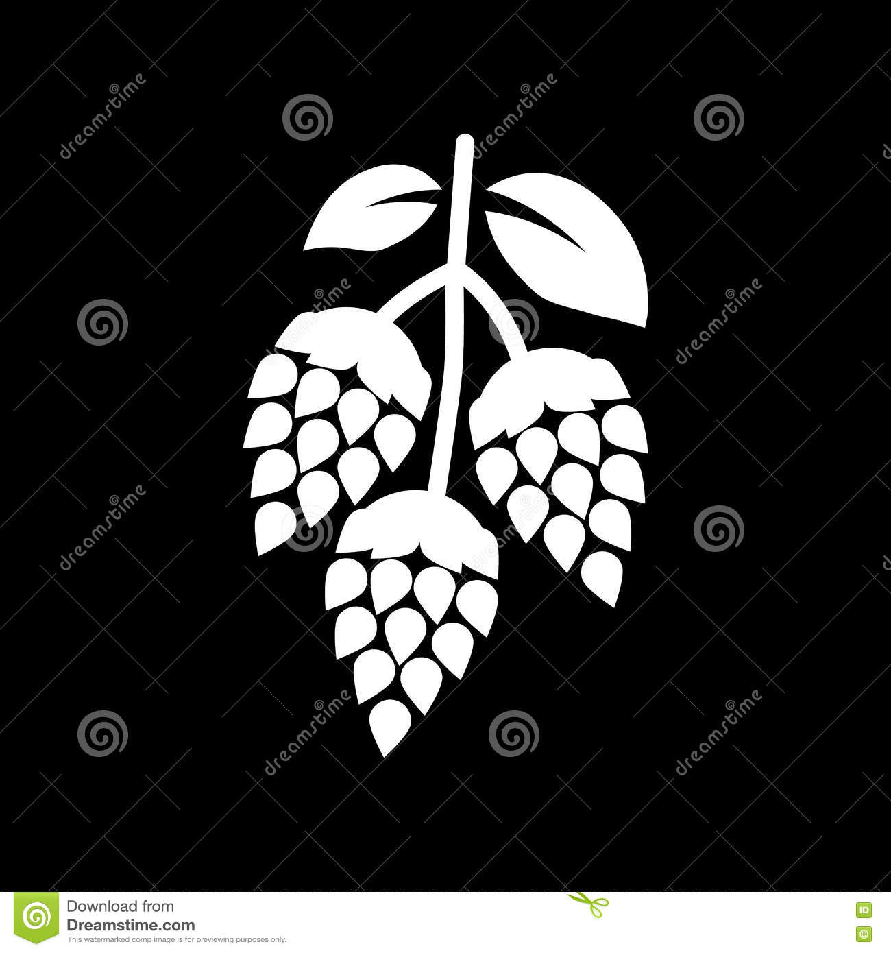 Home Design App Diamonds Design Of Beer And Hops Stock Image Cartoondealer Com