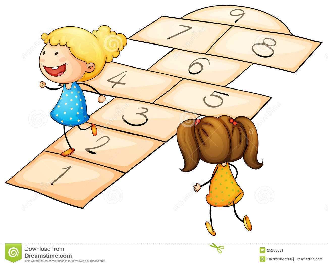Hopscotch Stock Image - Image: 25266051